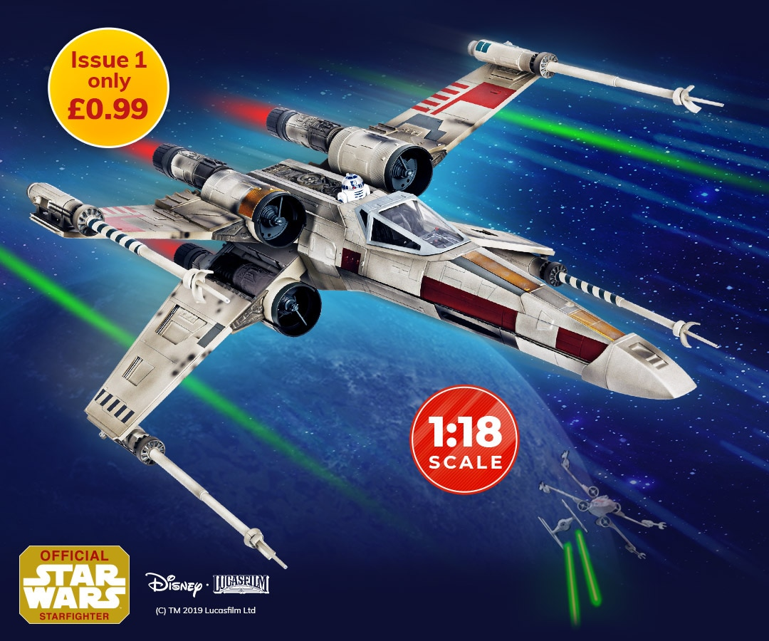 PARTS = 1:18 SCALE # 37 STAR WARS BUILD YOUR OWN X-WING OFFICIAL 2019 MAG